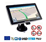 DBPower Navigateur 7 Pouses GPS Europe 2019 special Poids Lourds Camion Version Camping Car Truck Cartographie a Vie