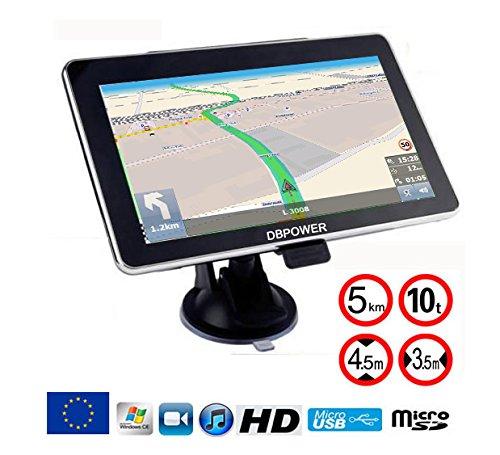 DBPower® Navigateur 7 pouses GPS special poids lourds...