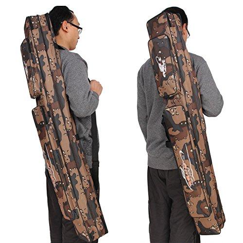 Feine Doppel Style Rutentasche - Rutenfutteral,1,2 m mit hoher Kapazität