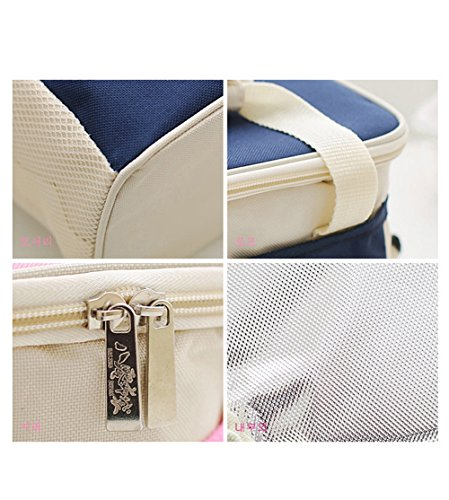 jecxep portatile Cooler Bag/borsa frigo per il pranzo/pranzo borsa/borsa pic-nic Deep Blue Deep Blue