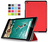 Google Chromebook Pixel C 10.2-inch Étui Housse - IVSO Slim Smart Cover Housse de Protection pour Google Chromebook Pixel C 10.2-inch Tablette (Rouge)