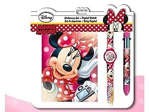 Minnie - Set con Reloj, Diario y bolígrafo (Kids WD17594)