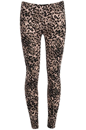 Ladies Girls Celebrity Inspired Animal Print Leggings EU Size 36-42 Tier drucken (Geparden-print-leggings)