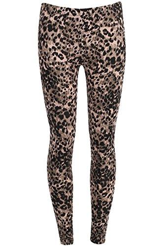 Ladies Girls Celebrity Inspired Animal Print Leggings EU Size 36-42 Tier drucken (Geparden-print-leggings)