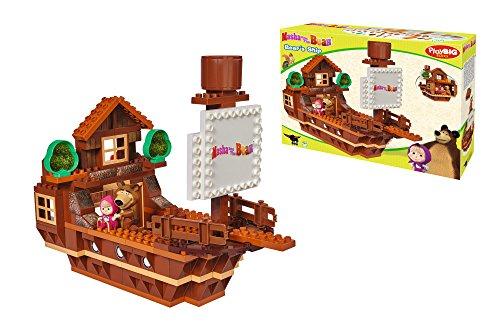 BIG Spielwarenfabrik 800057107 - PlayBIG Bloxx Masha and the Bear Ship Preisvergleich