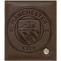 Manchester City FC Official Football Gift Luxury Brown Faux Leather Wallet