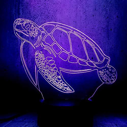 Nachtlicht Schildkröte 3D Led Lampe Bunte Evolution Nachtlichter Marine Thema Party Ausstellung Mond Beleuchtung Lava Geschenke Raum Schreibtisch Cooles Dekor -