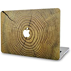 KECC MacBook Pro 13 Coque (2019/2018/2017/2016, Touch Bar) Rigide Case Cover pour MacBook Pro 13.3 {A1989/A1706/A1708} (Bois Fissuré)