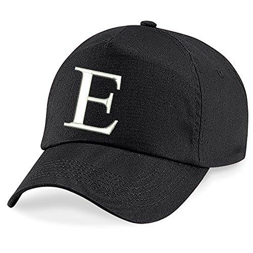 4sold Fille Enfants Chapeau Bonnet Unisexe A-Z Alphabet New Casquette de Baseball Cap noir Garçon E