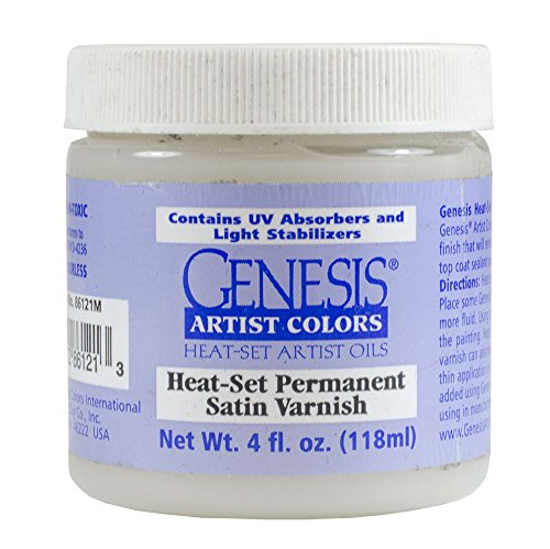 Genesis Heat Set Oil Paint : Medium Heat-Set Permanent Satin Varnish 118ml (4 oz) jar (Set Genesis Paint Heat)
