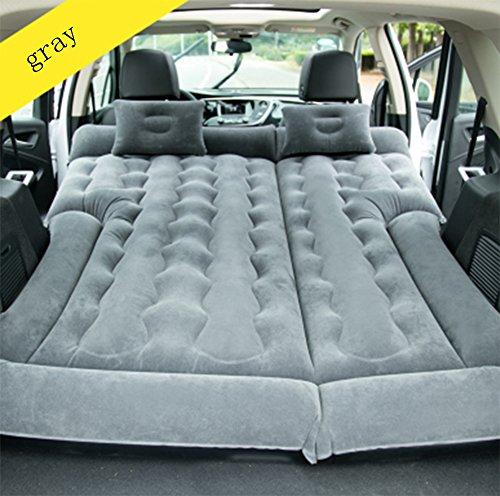 QWHKI Car Air Mattress Car Bed Mobile Cushion Camping Air Bed Tent Air Bed Beach Mat Electric Pump Two Pillows Suitable for Outdoor Driving