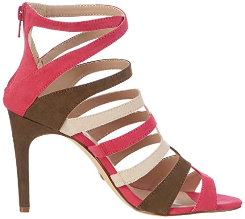 Buffalo David Bitton 15s90-6 Imi Suede, Sandales Bout Ouvert Femme Rose (Fuchsia 06)