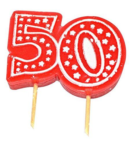 Zum Geburtstag, Zahl-Kerze, Nr. 50