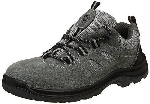 Allen Cooper AC-1439 Sports Series Safety Shoe, ISI Marked for IS 15298 Pt-2, SAntistatic, Steel Toe Cap for 200 Joules, Size 7 (GREY)