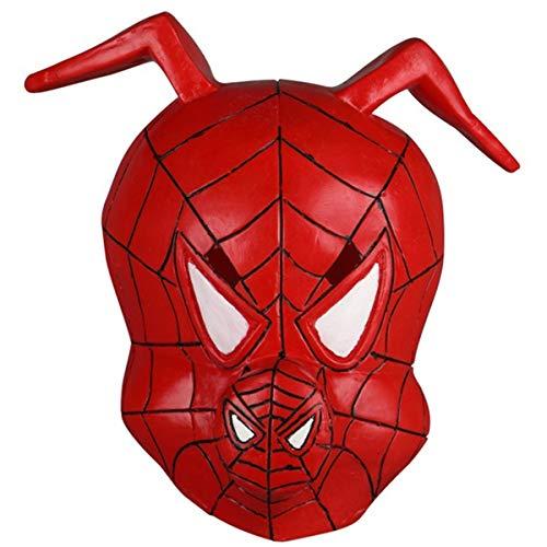 QQWE Spinne Schwein Maske Kopfbedeckung Spider Man Parallel Universum Cosplay Schwein Kopf Halloween Film Spiel Requisiten Latex ()