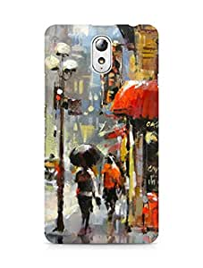 Amez designer printed 3d premium high quality back case cover for Lenovo Vibe P1M (City street rain painting)