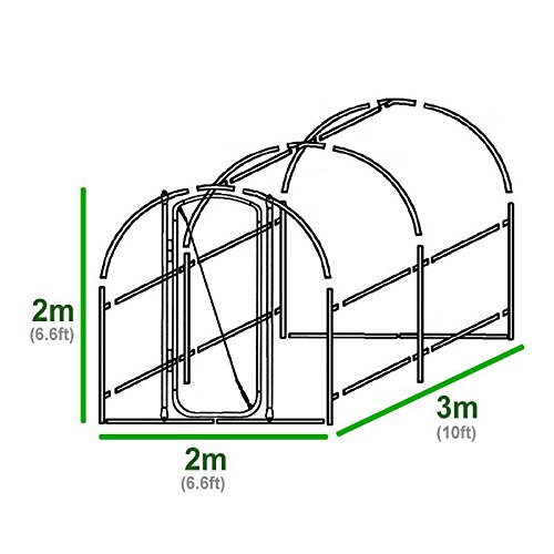 FeelGoodUK Polytunnel, 3 x 2 x 2 m