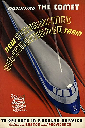 the-new-york-new-haven-hartford-railroad-co-the-comet-a4-glossy-vintage-railway-poster-art-print