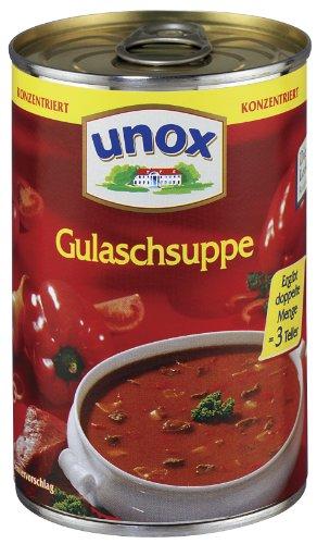 Preisvergleich Produktbild Unox Konzentrat Gulasch Suppe 3 Teller,  6er-Pack (6 x 382 ml)