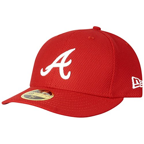 New Era 59Fifty LOW PROFILE Cap - Atlanta Braves - 7 1/8 (Profile Cap Low 3d)