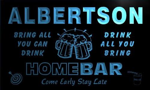 q00449-b-albertson-family-name-home-bar-beer-mug-cheers-neon-light-sign