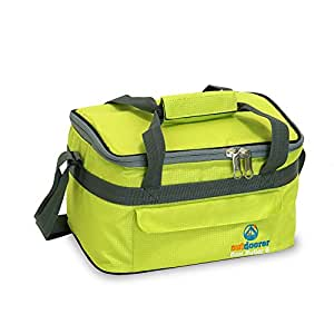 Kleine Kühltasche Cool Butler 6, grün, mit Außentasche von outdoorer