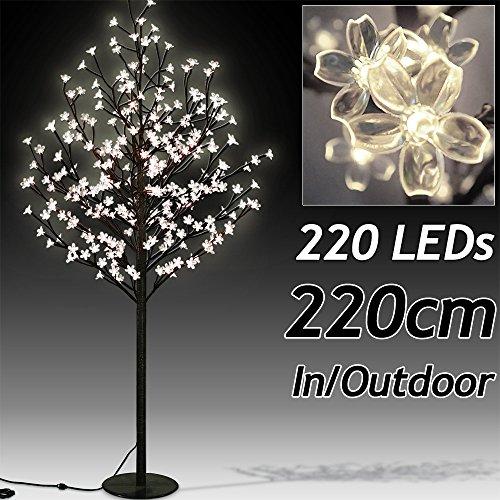 Árbol con Flor de Cerezo con 200 Ledes - Largo 180 cm - para Interior/Exterior
