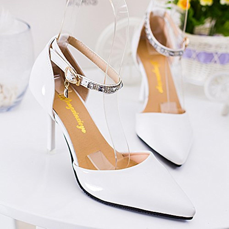 Diamantes De Imitacion Zapatos, Zapatos, Tacones Altos, Suave Parte Superior, Sandalias, Sandalias,Blanco,Eu35Cn36