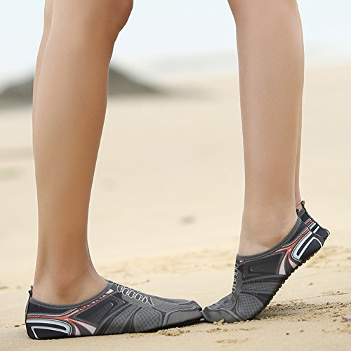 fereshte ,  Unisex Erwachsene Durchgängies Plateau Sandalen mit Keilabsatz 2Gray