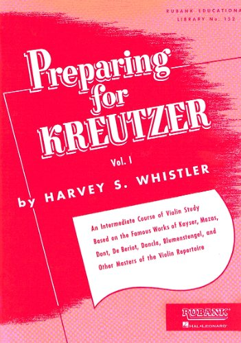 WHISTLER H. - Preparing for Kreutzer Vol.1 para Violin