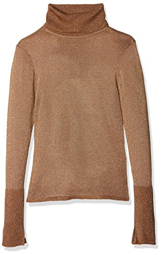 ONLY Damen Onldarling L/S Rollneck Pullover Knt, Braun (Rubber Detail:W. Gold), 38 (Herstellergröße: M) (Gold-rollkragen-pullover)