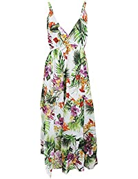 Universal Textiles Womens/Ladies Tropical Print Strappy Crossover Maxi Summer Dress