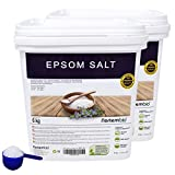 NortemBio Sal de Epsom 2x6 Kg, Fuente concentrada de Magnesio, Sales 100% Naturales. Baño y Cuidado Personal.