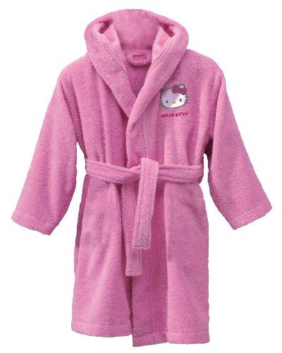 CTI 39989 - Albornoz infantil(2 a 4 años), diseño de Hello Kitty, color rosa