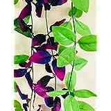 Rain Forest Artificial Plant Vines (Combo Pack - Moonlight Purple Vine 8Ft X 1 + Refreshing Green Vine 8Ft X 1)