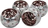 Decoline Teelicht-Gläser 4 Stück Kupfer groß 10x9cm