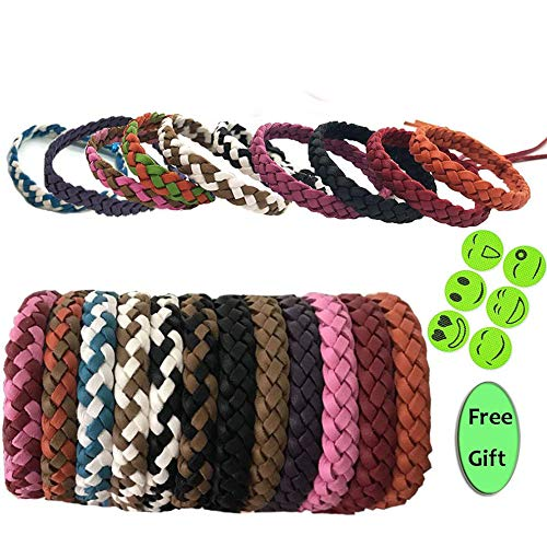 Huiit Mückenschutz Armband 10 Pcs Multi Color Best Pest Control Repeller Armbänder für Kinder Erwachsene