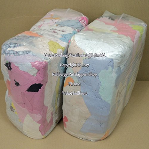 Rehberg´s 20 kg Putzlappen geschnitten aus Trikot hellbunt Baumwolle Putztücher -