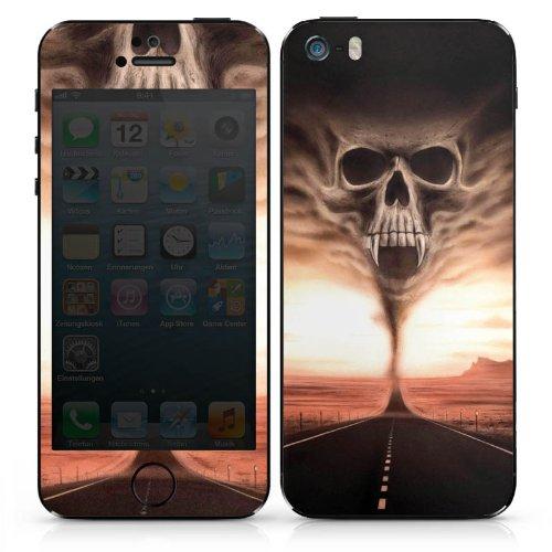 Apple iPhone SE Case Skin Sticker aus Vinyl-Folie Aufkleber Skull Wüste Schädel DesignSkins® glänzend