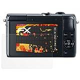 atFoliX Folie für Canon EOS M100 Displayschutzfolie - 3 x FX-Antireflex-HD hochauflösende entspiegelnde Schutzfolie