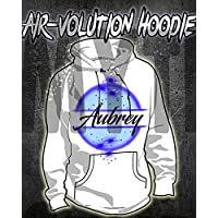 Personalized Airbrush Name Design Kids and Adult Hoodie Sweatshirt