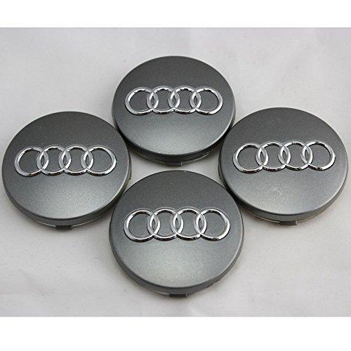 Preisvergleich Produktbild 4 x Original Audi Nabenkappe AUDI A4 A6 TT A8 A2 A3 RS4 RS6 WHEEL CENTER CAP HUBCAP 4B0601170