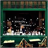 Pared de la Navidad Etiqueta,RETUROM Engomadas del copo de nieve Decoración de Navidad Escaparate Urbano pared