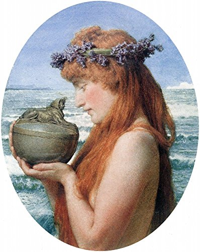 The Museum Outlet – Pandora by alma-tadema, Stretched canvas Gallery Wrapped. 40,6 x 50,8 cm