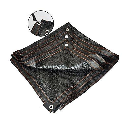 HUO Filet D'ombre De 8-Pin, Tissu De Protection Solaire, Réseau D'isolation De Shading pour Le Hangar De Voiture De Balcon De Piscine De Terrain De Jeu (Couleur : Noir, Taille : 3 * 3m)