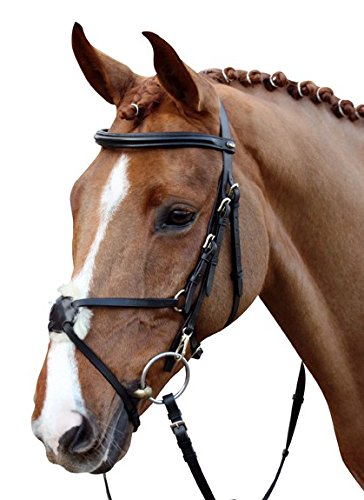 HKM Horse Bridle Mexican Style with Lambskin Padding 1