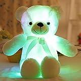 Teabelle Buntes Licht bis LED Bär Stofftiere Plüsch Spielzeug 50cm Weiß