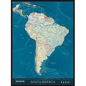 Mapa de pared de América del Sur