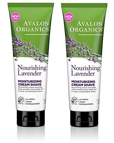 Avalon Organics Moisturizing Shave Cream, Lavender - 8 oz - 2 pk by Avalon -