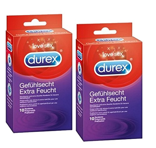 Durex Gefühlsecht Kondome Extra Feucht 20 Stk. (2 x10er)